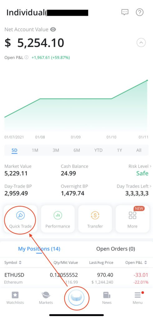 how to buy a call option on webull